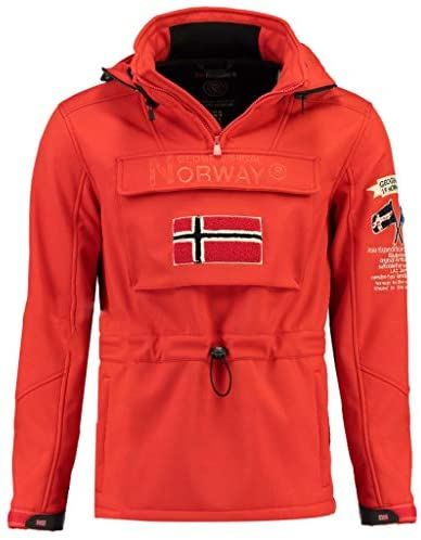 Geographical Norway Chaqueta Softshell Hombre TERREAUX Rojo S