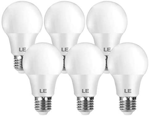 LE Bombilla LED E27, lámpara LED de 8,5 W y 806 lúmenes, Reemplaza la lámpara de 60 W, Blanco cálido 2700 K, lámpara de ahorro de energía de haz de 180 °, Paquete de 6