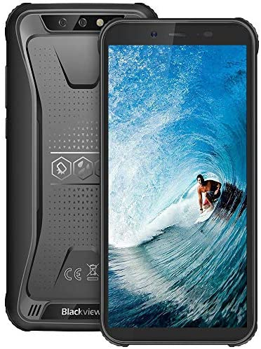 "Móvil Resistente 4G, Blackview BV5500Plus Android 10.0 Smartphone(2020), 5.5"" HD+ Pulgadas, 32GB+ 3GB(SD 128GB), 4400mAh Batería, 8MP+5MP, IP68 Telefono Movil Antigolpes, Dual SIM/GPS/NFC/Face ID"