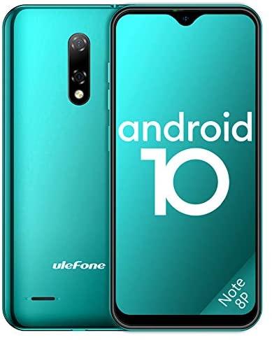 "Ulefone Teléfono Móvil 2020, Note 8P Android 10 Smartphone Libre 16GB ROM (128GB SD), Pantalla 5.5"" Water-Drop Screen Movil, 8MP 5MP, 2700mAh Batería, 3-Card Slot, GPS/WiFi/Hotspot-[Europea,Verde]"