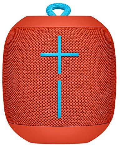 Ultimate Ears Wonderboom Altavoz Portátil Inalámbrico Bluetooth, Sonido Envolvente de 360°, Impermeable, Conexión de 2 Altavoces para Sonido Potente, Batería de 10 h, color Rojo