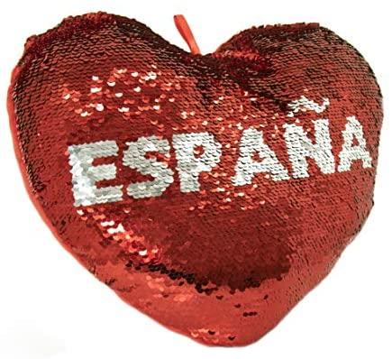 APEX GIFTS – San Valentín – Cojín con Forma de Corazon de Lentejuelas y Reversible – España