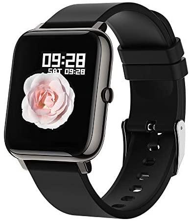 BOZLUN Smartwatch,Reloj Inteligente Impermeable IP67 para Hombre Mujer Niños,Monitor de Sueño Pulsómetros Cronómetros Contador de Caloría,1.4 Inch Pantalla Táctil Smartwatch para Android iOS(Negro)