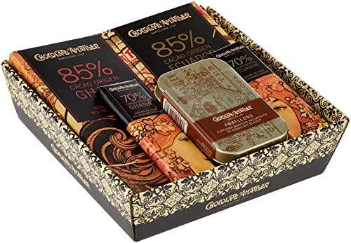 Chocolate Amatller – Chocolates variados en Cesta Regalo Orígenes 211g