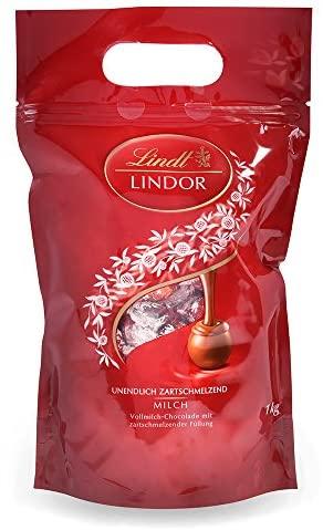 Lindt Lindor Bolsa 1Kg Bombones de Chocolate con Leche
