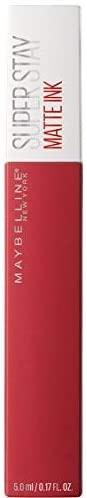 Maybelline New York, SuperStay Matte Ink, Pintalabios Mate de Larga Duración, Tono 20 – Pioneer, Rojo Oscuro