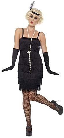 Smiffy´s – Disfraz para mujer, Flapper, años ´20, Negro, S (36-38 EU)