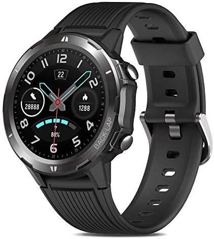 Reloj Inteligente Hombre, GRDE Smartwatch Mujer Redondo 12 Modo Deportivo con (Monitor de Ritmo Cardíaco/Sueño/Calorías) Reloj Fitness 5ATM Impermeable con Podómetro,Cronógrafo,Notificación de Mensaje