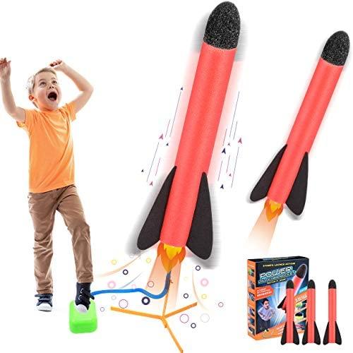 ATOPDREAM Stomp Rocket Juguetes Regalos para Niños al Aire Libre-Mejore Las Habilidades de Su Hijo