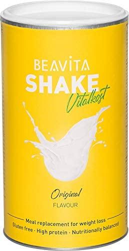 Batidos para adelgazar sabor Vainilla 500 g – Sustitutivo de comida proteico – Batido saciante de apetito – Para perder peso y mantener músculo – Alimento dietético hipocalórico – de BEAVITA