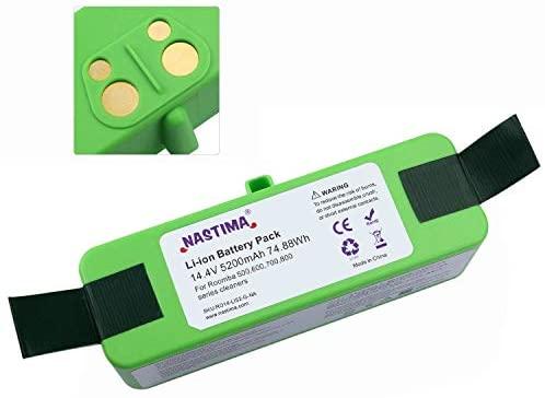NASTIMA Xlife 14.4V 5200mAh Batería de Iones de Litio Compatible con Roomba 510 520 521 535 550 551 560 561 562 577 580 610 620 630 650 655 671 675 760 770 780 790 860 870 880