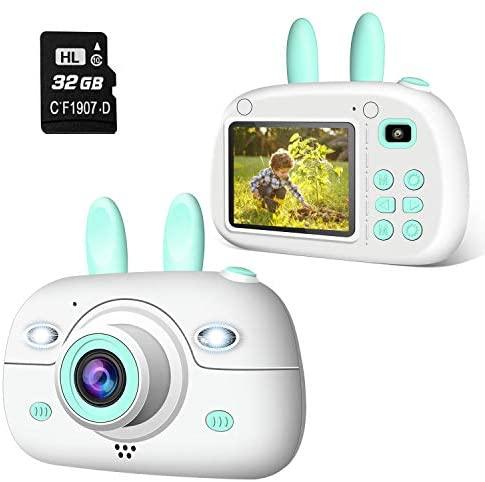 """2NLF Cámara para Niños 1080P 2.4"""" LCD Cámara de Fotos Digital para Niños con Tarjeta de Memoria Micro SD 32GB Cámara Infantil Regalos Juguete para 3 a 12 Años Niños y Niñas -Azul"""