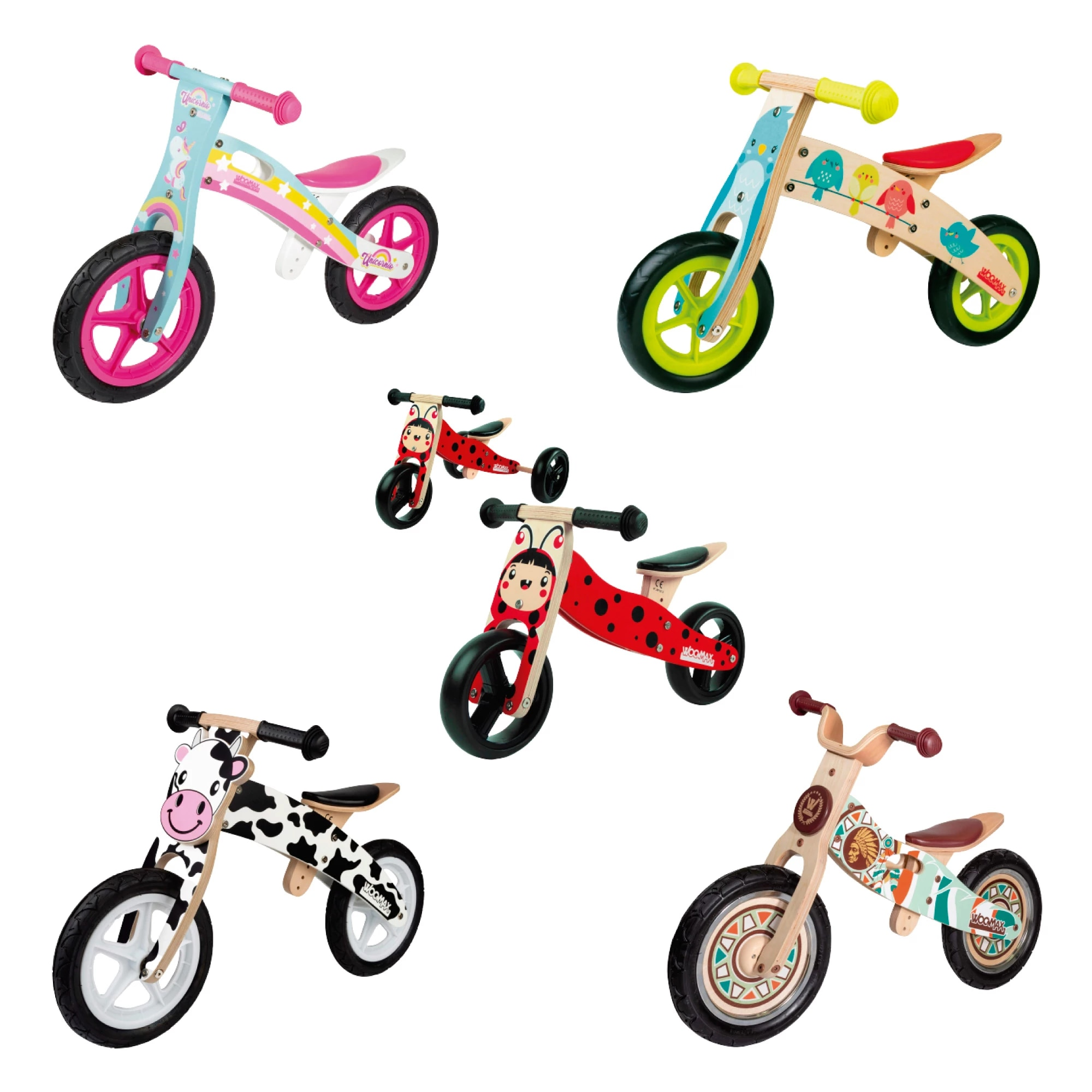 Woomax Bici sin pedales madera