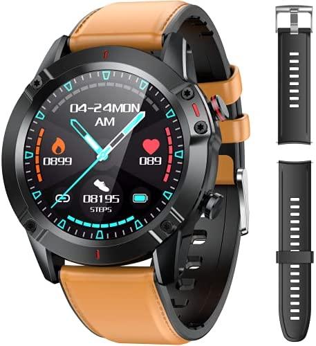 AGPTEK Smartwatch Hombre, Reloj Inteligente de HD Pantalla Táctil Completa Impermeable IP68 con 7 Deportes, Pulsómetro, Monitoreo del Sueño, Pulsera Actividad con Correa Repuesta para Android iOS