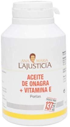 Ana Maria Lajusticia – Aceite de onagra – 275 perlas. Alivia dolores menstruales, los síntomas de la menopausia y el síndrome premenstrual. Envase para 137 días de tratamiento.