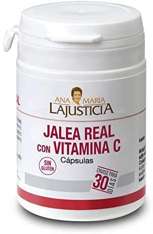 Ana Maria Lajusticia – Jalea real con Vitamina C – 60 cápsulas. Combate el cansancio, decaimiento y falta de energía. Refuerza el sistema inmunitario. Envase para 30 días de tratamiento.