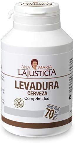 Ana Maria Lajusticia – Levadura de cerveza – 280 comprimido. Contribuye mantener un cabello sano, unas uñas fuertes y una piel tersa. Envase para 70 días de tratamiento.