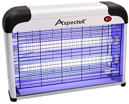 ASPECTEK Lámpara Mata Insectos Electrico Mata Moscas Mejor Solución contra Mosquitos, Polillas, Zancudos, Moscas, y mas Insectos. (20 Watt)