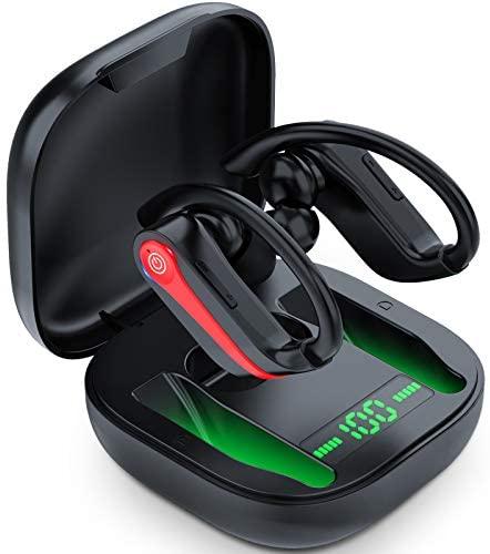 Auriculares Bluetooth Deportivos V5.1, IPX7 Impermeable Auriculares Inalambricos Running, 40H Cascos Bluetooth con Microfono, Carga Rapida, CVC8.0 Cancelación de Ruido, Viajes, Gimnasio, Deporte