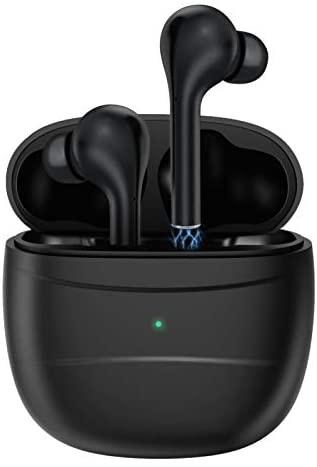 Auriculares Inalambricos Aoslen Auriculares Bluetooth 5.0 Graves Potentes HiFi Control Táctil Deportivos IPX7 Impermeable con Micrófono Carga USB-Micro para iPhone Xiaomi Huawei Android