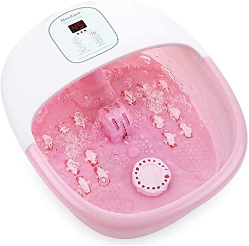 Bañera Para Pies, Hidromasaje de Pies con por Vibración de Burbujas y, Calentar el Foot Rosa
