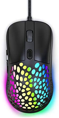 Blade Hawks Ratón Gaming,Ratón RGB Portátil Ligero con 7 Lighting Modes,4 dpi Ajustable,6 Botones,Ratón Juegos con Cable para Windows, Laptop
