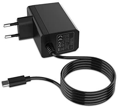 Cargador para NS Switch/Switch Lite, innoAura Adaptador de CA Type-C de Carga Rápida con Suministro de 15V 2.6A y Cable de 6 Pies Compatible en Modo de TV y Control Dock & Pro (Negro)