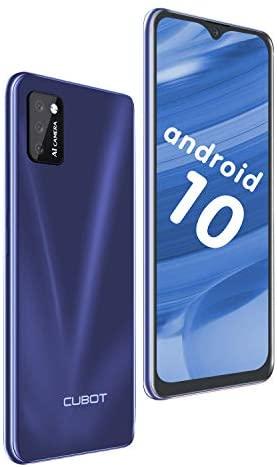 "CUBOT Note 7 Smartphone 5.5"" Teléfono móvil 4G 3100mAh Dual SIM Android 10.0, Triple Cámara 16GB ROM Face ID CUBOT Oficial,Azul"