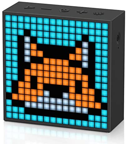 Divoom Timebox Evo Portable Bluetooth Pixel Art Speaker with 256 Programmable LED Panel 3.5 x 1.5 x 3.5 inches – Black
