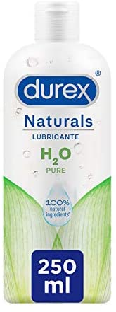 Durex Naturals H2O Lubricante Base Agua, 100% Natural Sin Fragancia, Colorantes ni Agentes Irritantes – 250ml