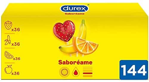 Durex Preservativos Saboreame con Sabores Afrutados – Pack 144 Condones