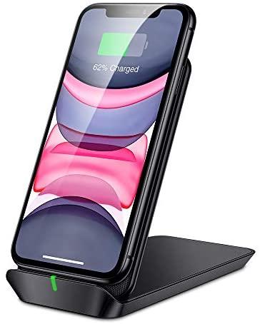 ESR Cargador Inalámbrico Rápido Plegable, 7.5W Carga rápida Compatible con iPhone SE 2020/11/11 Pro/11 Pro MAX/XS MAX/XS/XR/X/8/8 Plus, 10W para Galaxy S21/S21 Ultra/S20/S10/S9/S8
