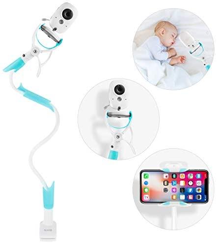 GHB Soporte para Cámara de Vigilabebes Soporte Universal con Palo Flexible para Fijar la Cámara de bebe