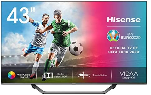 "Hisense 43AE7400F UHD TV 2020 – Smart TV, Resolución 4K, Dolby Vision, Wide Color Gamut, audio DTS Virtual-X, Ultra Dimming, Vidaa U 4.0, 43"", con Alexa integrada"
