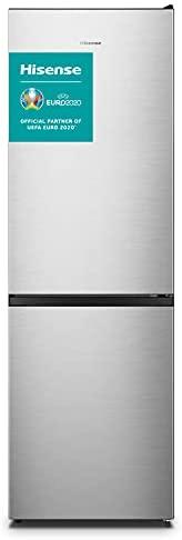 Hisense RB390N4AC2 – Frigorífico Combi No Frost, Capacidad Neta 300 L, 186 cm Alto, ECO mode, Silencioso 38 dBA, Color Blanco