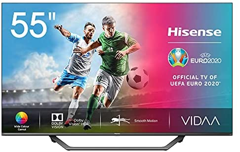 "Hisense UHD TV 2020 55AE7400F – Smart TV 55"" Resolución 4K, Dolby Vision, Wide Color Gamut, audio DTS Virtual-X, Ultra Dimming, Vidaa U 4.0, con Alexa integrada"