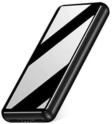 IEsafy Batería Externa 26800mAh con 2 Puertos de Salidas USB 2.4A Carga Rápida Power Bank para Xiaomi Redmi Samsung Huawei y más Smartphone – Negro