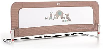 Innovaciones Ms Nido 3013 – Barrera para cama de 2 alturas Abatible , 50 x 30 x 150 cm, Beige