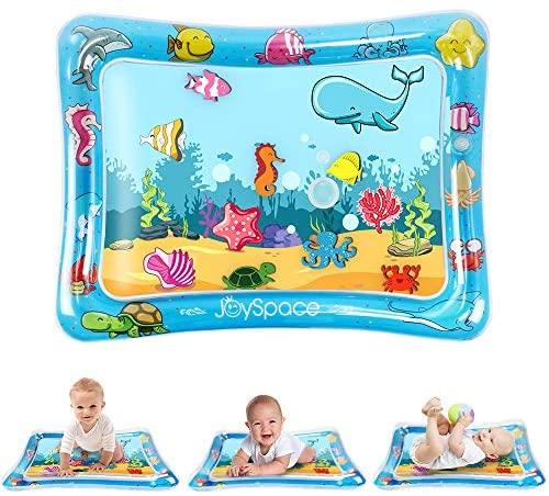 JOYSPACE Alfombra Inflable del Agua para Bebé Inflable Tapete de Bebés Estera de Agua de PVC Centro de Actividades para La Estimulación del Crecimiento de Bebé (75 * 60cm)