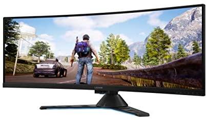 """Lenovo Legion Y44w – Monitor Gaming Curvo 43.4"""" UHD (FreeSync Pro, 144 Hz, 4 ms, HDMI+DP+USB Type-C, Regulable en altura) Con altavoces, Color Metal Negro"""