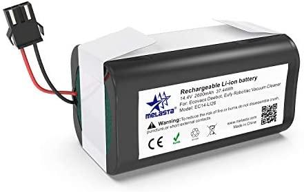 melasta de 14,4 v 2600mAh Batería de Iones de Litio para Conga Excellence 990 950 1090, DEEBOT N79S N79 DN622, Eufy RoboVac 11, 11S, 11S MAX, 12, 15C, 15C MAX, 15T, 30, 30C, 30C MAX, 35C