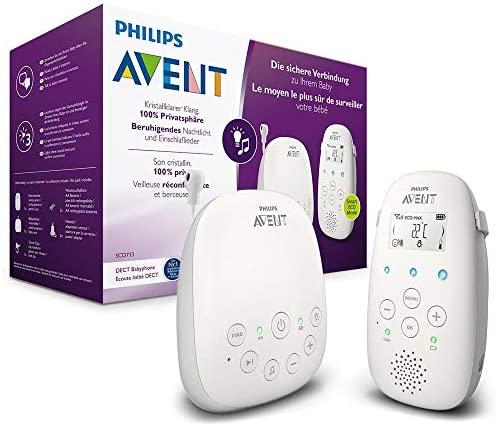 Philips Avent SCD713/00 – Vigilabebes con privacidad y seguridad DECT, luz nocturna