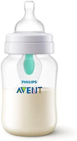 Philips Avent Scf813/14 – Biberón Anti Cólicos con Sistema Patentado Airfree, 260 Ml, Silicona, Transparente