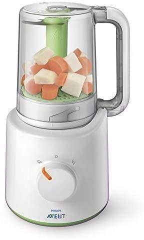 Philips Avent SCF870/20 – Procesador de alimentos para bebés 2 en 1, color blanco y verde