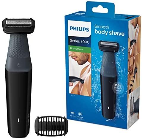 Philips Serie 3000 BG3010/15 – Afeitadoracorporal aptaparaladucha con 1 peines-guia 50 min de uso