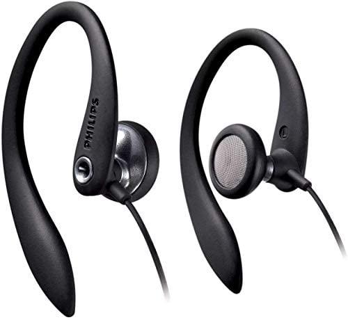 Philips SHS3300BK/10 Auriculares intrauditivos con cable (Bass Beat, Clips flexibles, Cable de 1,2 m), Color negro