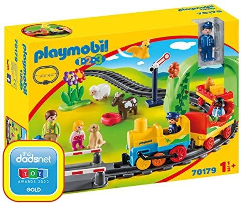 Playmobil – 1.2.3 Playset, Mi Primer Tren, Multicolor (70179)