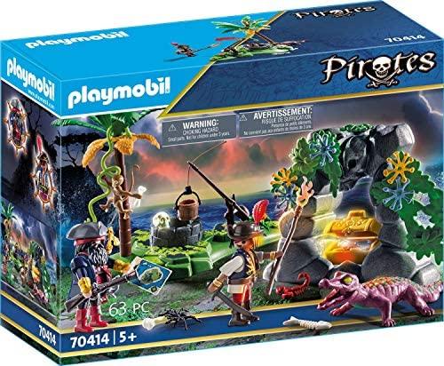 PLAYMOBIL Pirates – Escondite Pirata, a partir de 5 Años, 70414
