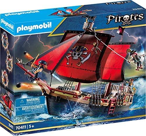 Playmobil – Pirates Playset Barco Pirata Calavera, Multicolor (70411)