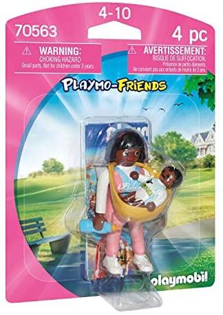 PLAYMOBIL PLAYMO-FRIENDS 70563 Mamá con Portabebés, A partir de 4 años